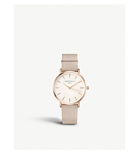 ROSEFIELD WSPR-W73 The West Village rose gold-plated stainless steel and leather watch
