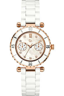 GC Precious diamond–dot white ladies' watch