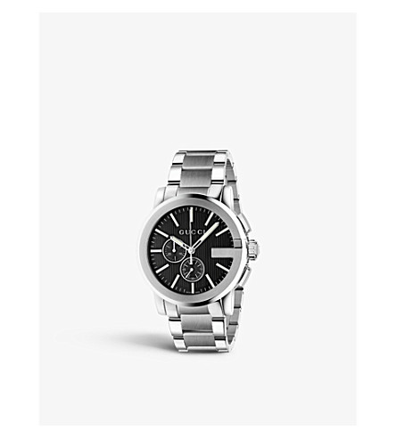 GUCCI YA101204 G-chrono stainless steel watch (Black