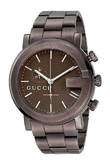 GUCCI YA101341 G-Chrono Collection PVD and steel watch