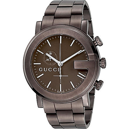 GUCCI YA101341 G-Chrono Collection PVD and steel watch (Brown