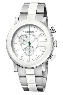 GUCCI YA101345 G-Chrono steel watch