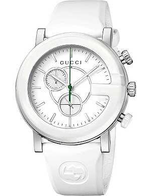 GUCCI YA101346 G-Chrono Collection steel and rubber watch