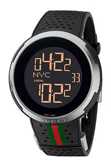 GUCCI YA114103 I-Gucci XXL steel and rubber digital watch
