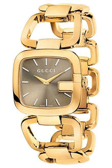 GUCCI YA125408 G-Gucci medium gold PVD watch