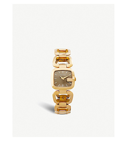 GUCCI YA125511 G-Gucci Collection PVD watch (Brown