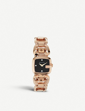 GUCCI YA125512 G-Gucci Collection pink-gold PVD watch