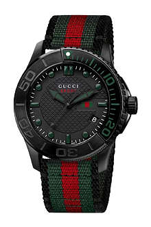 GUCCI YA126229 Gucci G-timeless black steel watch