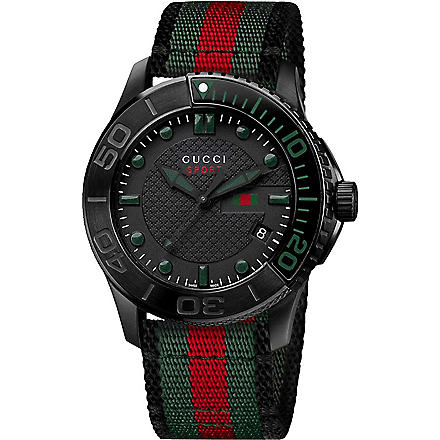 GUCCI YA126229 G-Timeless Collection steel watch (Black