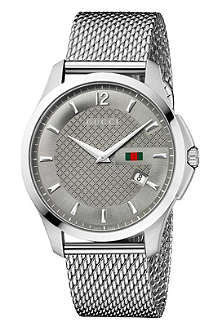GUCCI YA126301 G-Timeless Collection stainless steel watch