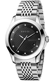 GUCCI YA126405 G-Timeless stainless steel watch