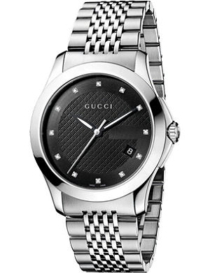 GUCCI YA126405 G-Timeless Collection stainless steel watch