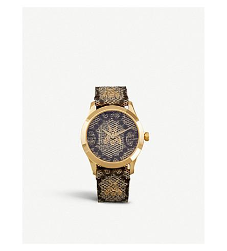 GUCCI YA1264068 G-Timeless gold PVD watch