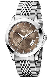 GUCCI YA126412 G-Timeless stainless steel watch
