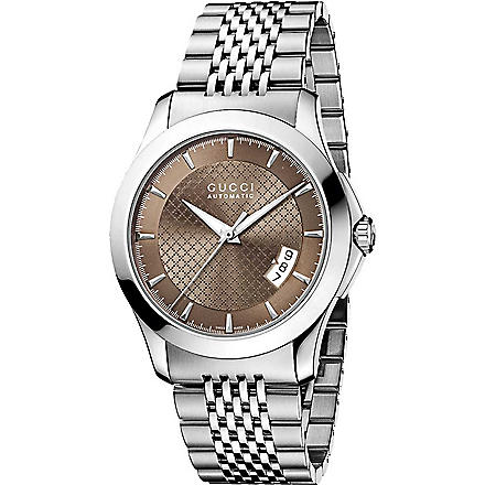 GUCCI YA126412 G-Timeless stainless steel watch (Brown