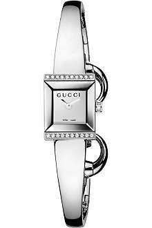 GUCCI YA128504 G-Frame stainless steel watch