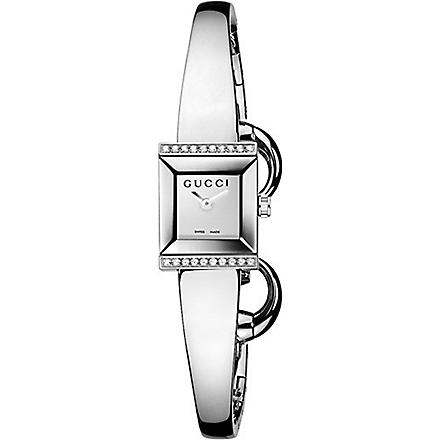 GUCCI YA128504 G-Frame stainless steel watch (Silver