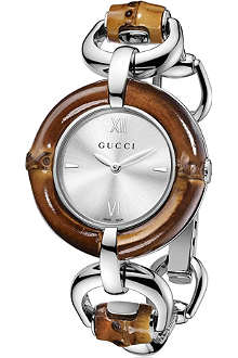 GUCCI Bamboo collection stainless steel watch