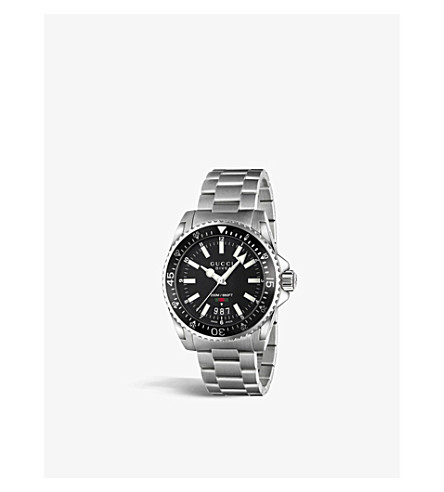 GUCCI YA136301 Dive stainless steel watch (Black