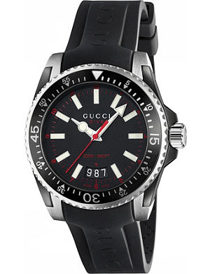 GUCCI YA136303 Dive stainless steel and rubber watch