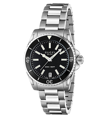 GUCCI YA136403 Dive stainless steel watch (Black