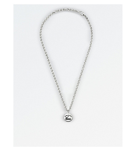 GUCCI Trademark sterling silver pendant necklace