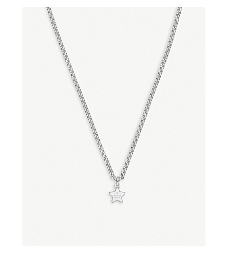 GUCCI Trademark sterling silver necklace
