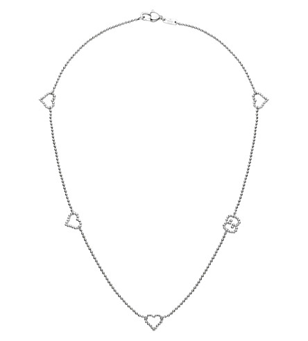 GUCCI Sterling silver boule necklace