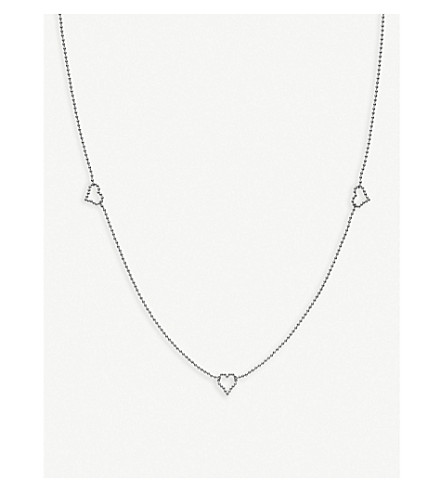 GUCCI Boule sterling silver heart necklace