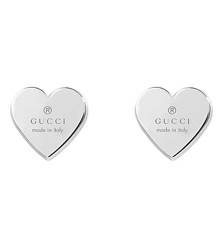 GUCCI Sterling silver trademark earrings