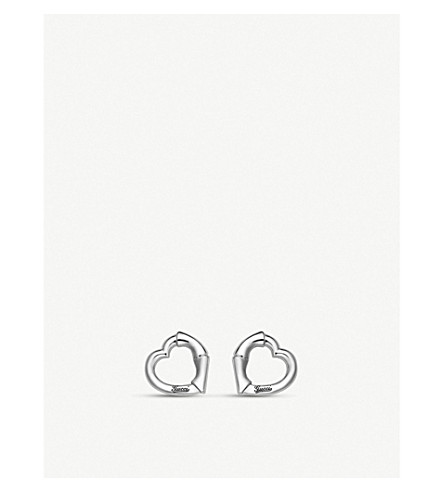 GUCCI Bamboo rhodium-plated sterling silver earrings