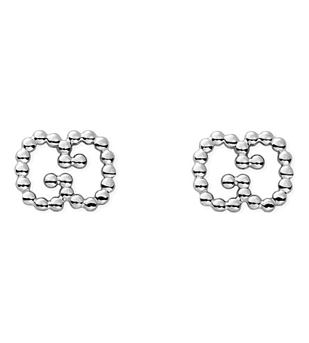 GUCCI Sterling silver boule earrings