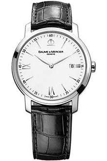 BAUME & MERCIER 10097 Classima steel and leather watch
