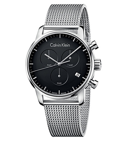 CALVIN KLEIN City stainless steel chronograph watch (Black