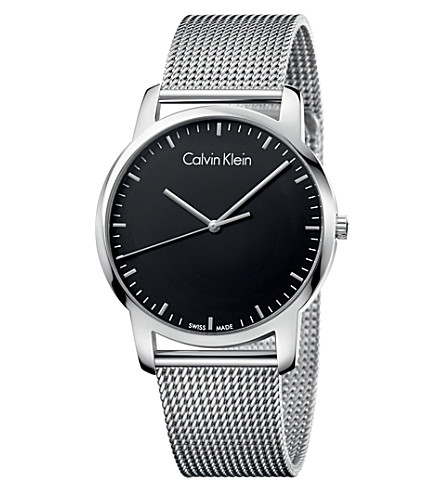 CALVIN KLEIN City stainless steel watch (Black