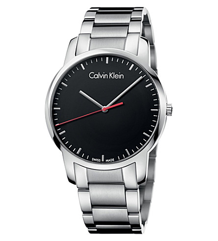 CALVIN KLEIN K2G2G141 City stainless steel watch (Black