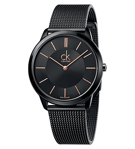 CALVIN KLEIN K3M21421 Minimal PVD-plated steel watch (Black