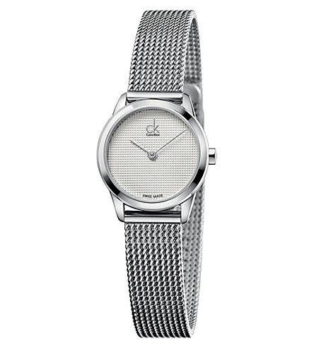 CALVIN KLEIN K3M2312Y stainless steel watch (White