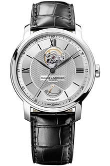 BAUME & MERCIER M0A08869 Classima Executives stainless steel and leather watch