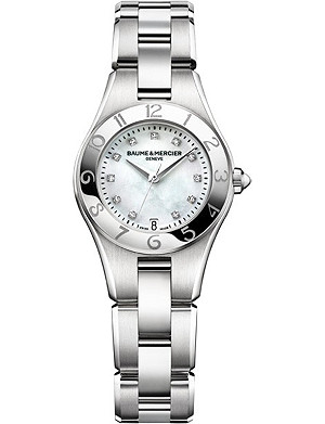 BAUME & MERCIER M0A10011 Linea stainless steel and diamond watch
