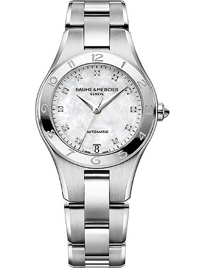 BAUME & MERCIER M0A10074 Linea automatic stainless steel watch