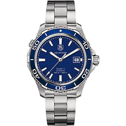 TAG HEUER Aquaracer 500m calibre 5 automatic watch 41mm (Silver