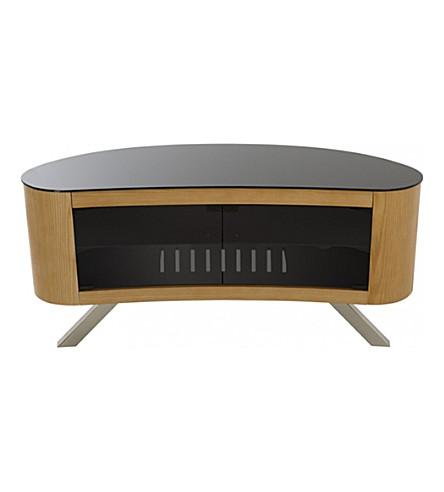 AVF FS1150: Affinity Bay Curved TV Stand (Oak
