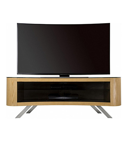 AVF FS1500: Affinity Bay Curved TV Stand (Oak