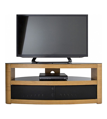 AVF FS 1250 Affinity - Burghley Curved TV Stand (Oak
