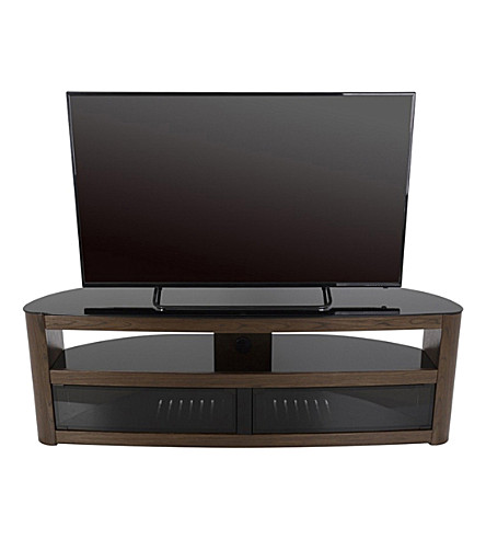 AVF Burghley curved TV stand (Walnut