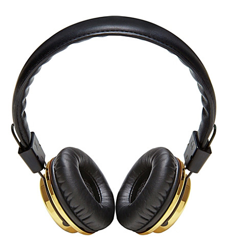 BLOC & ROC Galvanize s2 gold 24k on-ear headphones