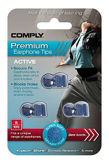 COMPLY S100 Active Premium Earphone Tips, three medium pairs