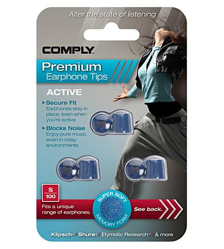 COMPLY S100 Active Premium Earphone Tips, three medium pairs