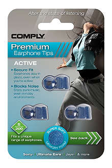 COMPLY S200 Active Premium Earphone Tips, three medium pairs